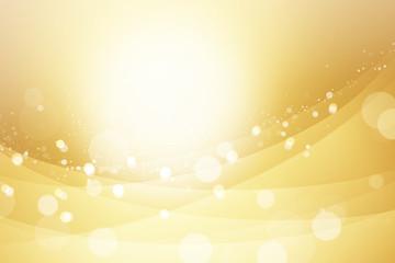 金色の光輝く曲線、抽象的背景