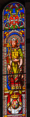 Saint Leopold Austria Stained Glass Baptistery Cathedral Pisa Italy
