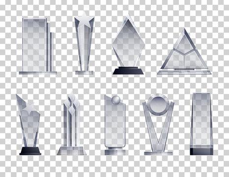 Trophies Transparent Set