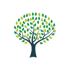 tree logo icon design template vector