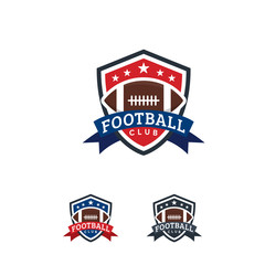 American Football logo designs Badge template, Rugby Logo badge