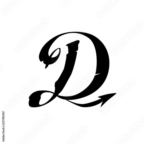 The letter D in the Gothic style  Latin capital letter symbol  The