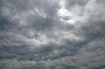 View of Stormy Sky for Background