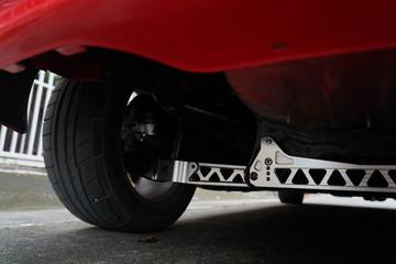 Car's modified suspension