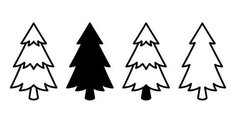 Christmas tree vector icon logo cartoon character illustration symbol graphic design