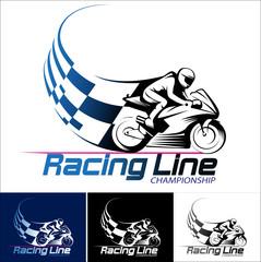 Vector illustration, motor racing championship logo event.