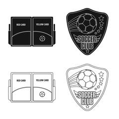 Vector illustration of soccer and gear logo. Set of soccer and tournament stock vector illustration.