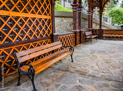 Fine Wooden Bench Inside Wooden Bower Mineral Spring Magdalena Caraccident5 Cool Chair Designs And Ideas Caraccident5Info