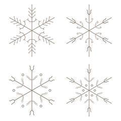 Schneeflocke aus Leiterbahnen