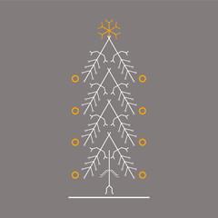 Weihnachtsbaum aus Leiterbahnen