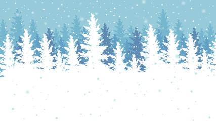 Winter outdoor scene vector illustration.