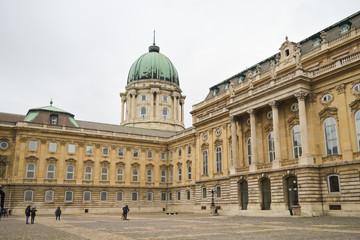 Walking on Buda Castle in Budapest on December 30, 2017.