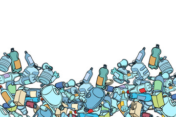 plastic trash. Ecology and pollution