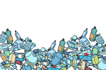 Fototapeta plastic trash. Ecology and pollution obraz