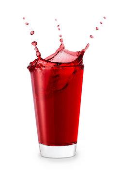 glass of splashing juice