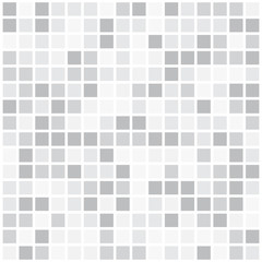 white and Gray colors abstract square pixel mosaic background