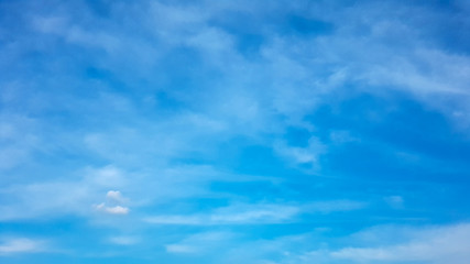 Aluminium Prints Heaven Deep blue sky and white cloud background.Abstract nature background.