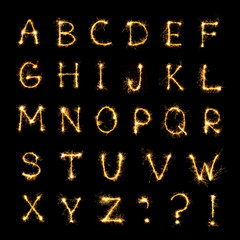 Beautiful english alphabet