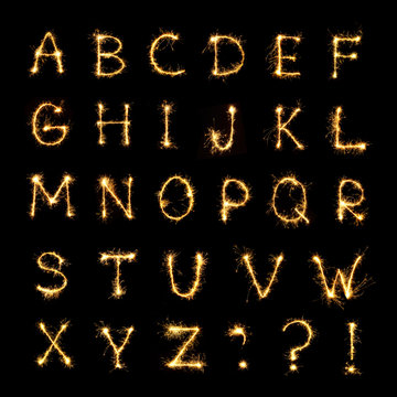 Beautiful english alphabet
