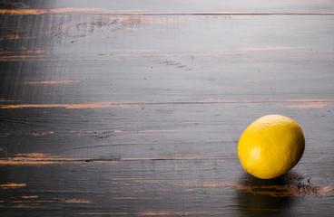 citrus lemon on wooden background