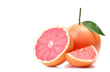 Grapefruit on white background