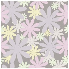 Floral seamless vector pattern in pastel colors.