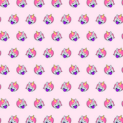 Unicorn - emoji pattern 38