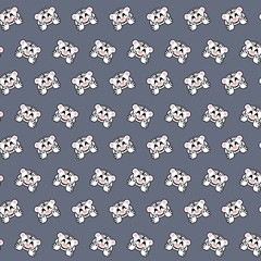White tiger - emoji pattern 20