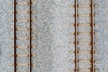 Papiers peints Voies ferrées Top view of railroad tracks and abstract background