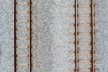Stores à enrouleur Voies ferrées Top view of railroad tracks and abstract background