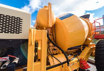 Element of the yellow concrete mixer