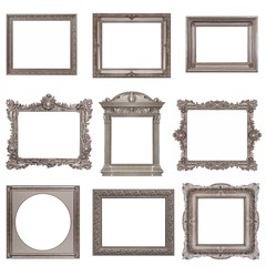 Set of silver and silver frames for paintings, mirrors or photos