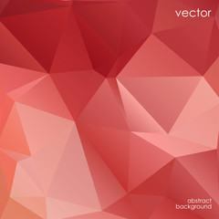Abstract polygonal beautiful red background