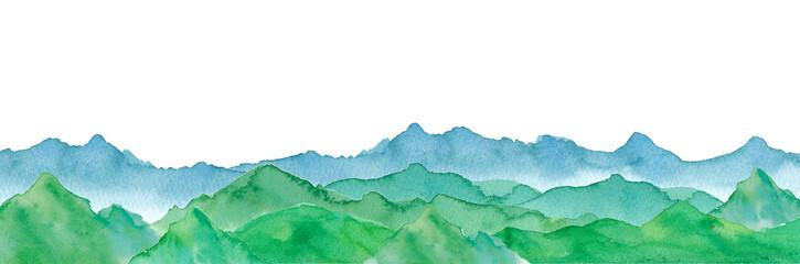連なる山の景色