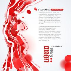 Blood cells liquid flow