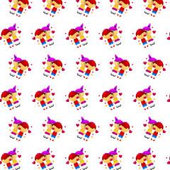 Little boy & girl - sticker pattern 35