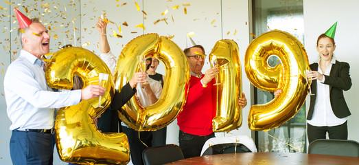Business team celebrating New Year