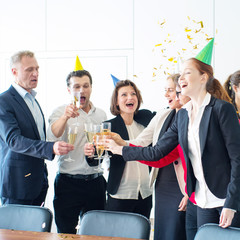 Business team celebrating victory
