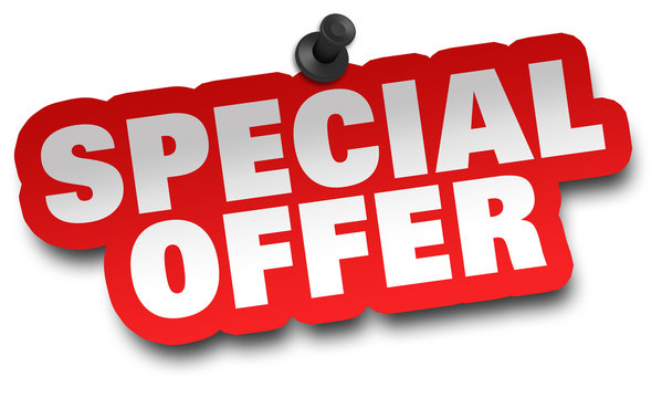 special offer concept 3d illustration isolated