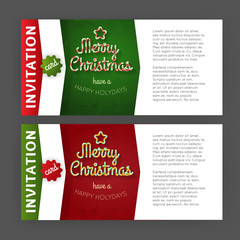 Candy Christmas invitation template