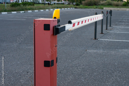 Close up Barrier Gate Automatic system for security