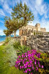 View of the Scaliger castle in Torri Del Benaco Veneto Italy