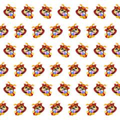 Samurai skull - sticker pattern 15