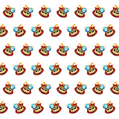 Samurai skull - sticker pattern 18