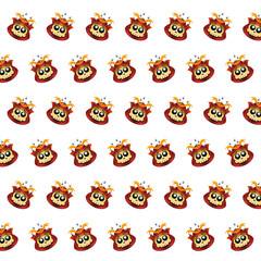 Samurai skull - sticker pattern 22