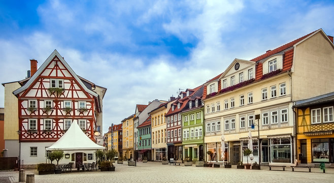 The city of Meiningen in Thuringia Germany on 27.October 2018