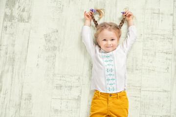cheerful active girl