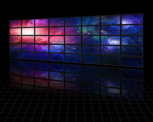Galaxies and stars on screens
