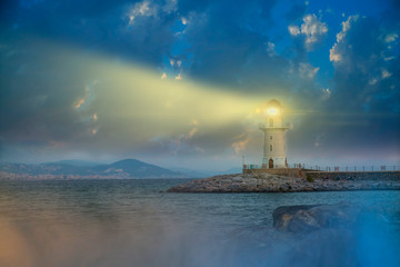 view light of lighthouse