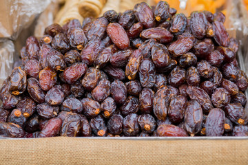 Pile of dates background.